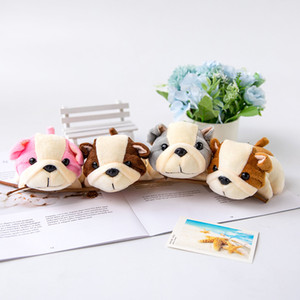 Wholesale display dogs for sale - Group buy 4Colors DOG Plush Stuffed TOY CM Soft Keychain Gift Animal small pendant doll display