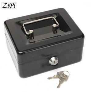 Wholesale piggy bank boxes for sale - Group buy Zipi Stainless Steel Petty Cash Money Box Security Lock Lockable Metal Safe Small piggy bank Creative Christmas gift home1