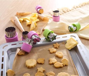 Wholesale decorative cookies for sale - Group buy Animal Star Molds Vegetable Cutter Shapes Set Stainless Steel Mini Cookie Cutters Molds For Decorative Fruit Cookie Baking Tools YYS3611