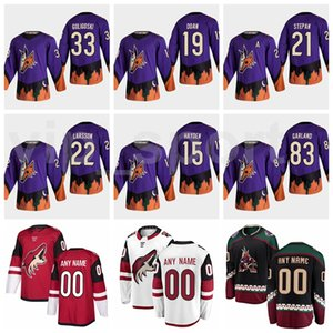 Wholesale purple garlands for sale - Group buy Reverse Retro Ice Hockey Conor Garland Jersey Arizona Coyotes Derek Stepan Alex Goligoski Shane Doan Stitched Purple Red White