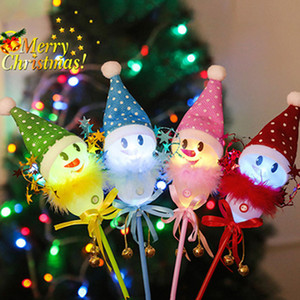 Wholesale christmas decors resale online - multicolor Led Party Christmas Magic Wand LED Glow Stick Flashing Concert Holiday Christmas Decor supplies Snowman Glow Sticks FFE3135