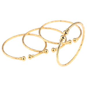 Wholesale babies bracelets resale online - New India African Gold Baby Bangle Jewelry For Boys Girls Gold Color Ethiopian Kids Bangles Bracelet Jewelry