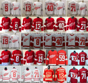 ala roja de detroit al por mayor-Retro retro Detroit Wings Red Wings Jersey Hockey Dylan Larkin Pavel Datsyuk Steve Yzerman Sergei Fedorov Bertuzzi Anthony Mantha Gordie Howe