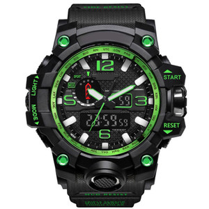 Wholesale electronic military resale online - New Mens Military Sports Watches Analog Digital Led Watch Shock Resistant Wristwatches Men Electronic Silicone Watch Gift Box Montre De Luxe