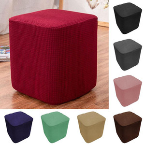 Wholesale foot stools for sale - Group buy Elastic Ottoman Rectangle Covers Case Stretch Storage Ottoman Slipcover Protector Footstool Sofa Foot Rest Stool Covers
