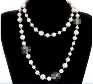 Wholesale white twisted pearl necklace resale online - Hot sale pearl necklaces for women long sweater necklace high quality wedding luxury jewelry for best gift