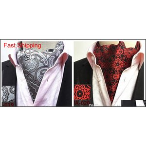 Wholesale ascots ties resale online - Mens Cravat Ties Vintage Polka Dot Floral Wedding Formal Cravat Ascot Scrunch Self British Style Gentleman Polyest qylRpH queen66