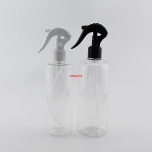 Wholesale container house resale online - 300ml ml X Refillable Plastic Cosmetic Container With White Black Trigger Pump PET Bottles For Watering House Cleaninggood package