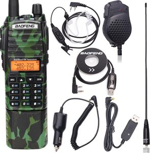 Wholesale radio ham resale online - Baofeng UV Plus Walkie Talkie W Powerful mAh Battery With DC Connector Dual Band KM Long Range Amateur Ham CB Radio