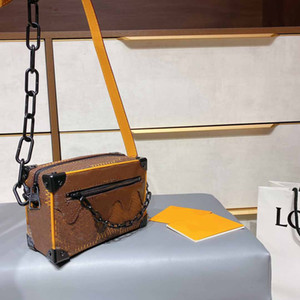 Wholesale new trendy handbags for sale - Group buy New Designer Box Bags Womens Fashion Hot Selling Handbag Lady New Trendy Print Trunk Shoulder Bags Girls Crossbody Bag with Box