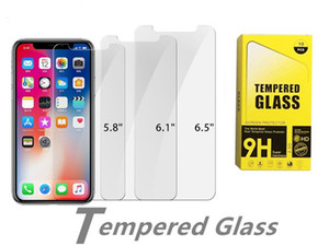 Screen Protector for iPhone 12 Pro Max X XS XR 5 5S SE Tempered Glass for iPhone 12 Mini 11 Pro 7 Plus 8 6 6S Protective Glass Paper pack