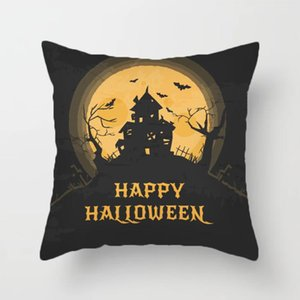 ingrosso zucca spaventoso-2020 Nuovo Halloween Home Decorazioni Cartoon Pumpkin Bat Ghost Federa Spaventoso Halloween Party Forniture Accessori Decorazioni di Halloween