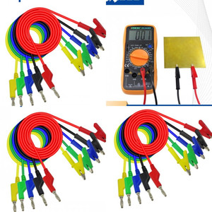банановые зажимы оптовых-Pure Color Test Line Plug Banana Plug к Alligator Clip Plug Plug Time Private Pressional Gadget Multicolor MultiMeter можно подключить LQ J2