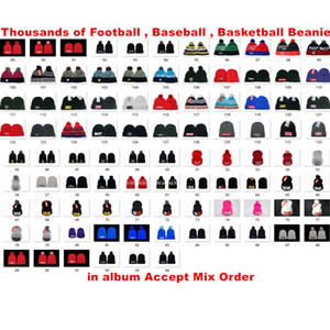 Wholesale golf hats sale resale online - Hot Sale Newest Winter Beanie Knitted Hats Sports Teams Baseball Football Basketball Beanies Caps Women Men Pom Fashion Winter Top Caps