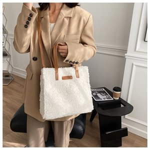 Wholesale stylish white bag resale online - YCSCL s New High Volume Women s Lamb Feather Handbag Is Simple And Stylish White Tower Commuting Single Shoulder Cross Body Bag Q1215