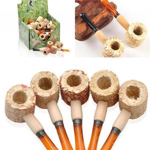 Wholesale pipe corn for sale - Group buy Adult Handmade Portable Corn Pipe Smoking Accessories Men Natural Corncob Pipes New Arrival Practical Gadget Hot Sale yd J2