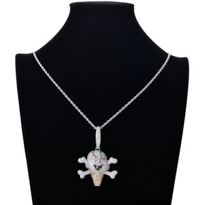 Wholesale popular necklace styles resale online - The New Hot Style Cartoon Character Pirate Ice Cream Pendant Is Studded With Zircon Popular Logo Necklaces For Men And Women