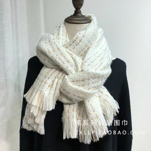 Wholesale korean winter styles for sale - Group buy Fashionable and elegant knitting style cashmere scarf for women winter Korean version