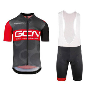 GCN team Pro Cycling Short Sleeves jersey bib shorts sets summer mens bicycle clothing uniform MTB Racing clothing Ropa Ciclismo 102319