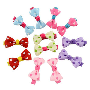 Wholesale baby hair styles resale online - Kids Bows Hair Clips Polka Dot Ribbon Bows Hairpins Girls Children Boutique Bow With Clips many Styles Baby Hairs Barrettes GWD4216
