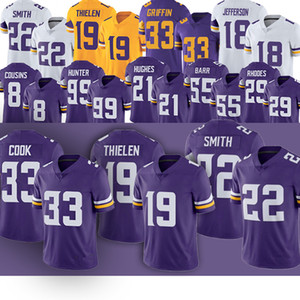 anthony barr venda por atacado-Justin Jefferson Adam Thielen Kirk Cousins Dalvin Cook Harrison Smith Anthony Barr Danielle Hunter Anthony Barr Futebol jerseys