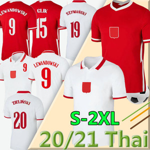 2020 2021 POL national team AND Soccer Jerseys Home away LEWANDOWSKI MILIK PISZCZEK PIATEK GROSICKI Jersey football Shirts men uniforms