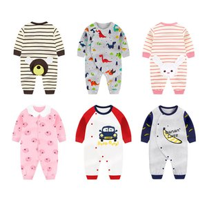 Wholesale baby clothes elephants boys resale online - New Born Clothing Thick warm Cotton Newborn Long Sleeve Clothing Baby Clothes Infant Rompers Elephant print Boy Girl Jumpsuit J1203
