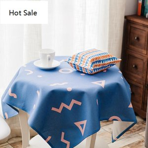 Wholesale blue table cloths resale online - Polyester Waterproof Table Cover Blue Pink Tablecloth Square Desk Cloth For Table Manteles Wipe Covers Table Carpet Tablecloths