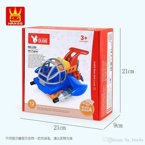 Wholesale block planes resale online - Mini Plane Model Bricks Toys DIY Early Children Mini Fighter Building Block Creative Intelligence Gift For Boys and Girls