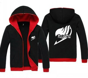 Wholesale anime fairy tails for sale - Group buy 2021 New Anime Fairy Tail Red and Black Clothing Casual Sweatshirt Hoodie Unisex Coat Jacket lvd