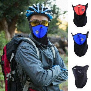 Wholesale neoprene ski masks resale online - Bicycle Cycling Motorcycle Half Face Mask Winter Warm Outdoor Sport Ski Mask Ride Bike Cap CS Mask Neoprene Snowboard Neck Veil