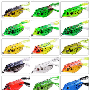 Wholesale fishing lures for sale - Group buy 15pcs Frog Soft Fishing Lures Double Hooks g g g Top Water Ray Frog Artificial Minnow Crank Soft Bait Fishin qylIwu