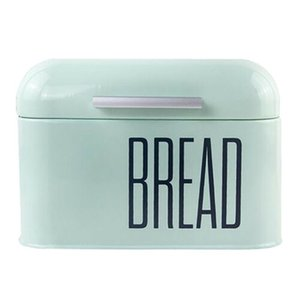 Wholesale bakery bread resale online - Durable Metal Bread Box Kitchen Bread Bin Container with Lid for Bakery Restaurant L Home Storage Organization WWO66 Q0120