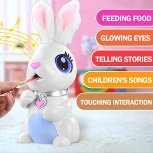Wholesale plastic toy rabbits for sale - Group buy Robot Toy Hungry Bunnies Interactive Robotic Rabbit Gift for Kids Pretend Food Eating Music Electronic Robot LJ201105