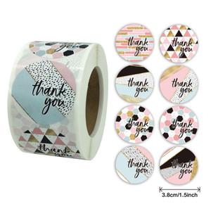 500pcs 1.5inch Thank You Seal Label Sticker DIY Gift Decoration Cake Baking Bag Package envelope Decor
