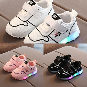 Wholesale shoes luminous children for sale - Group buy Size Baby Casual Shoes with Lights Girls Lightweight Breathable Shoes Children Luminous Sneakers Boys Led Glowing Sneakers J1208