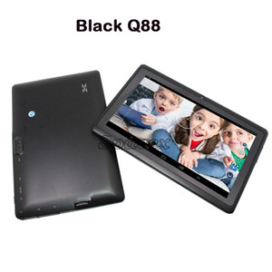 Wholesale q88 a33 quad core tablet resale online - Q88 A33 Tablet PC quot inch Fun Study Quad Core Children MB GB Dual Camera Tablet Colorful Android Allwinner