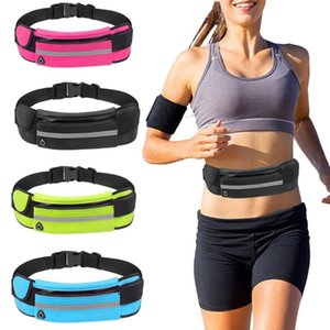 Wholesale waterproof waist bags resale online - High Quality Running Waist Bag Waterproof Phone Container For Jogging Hiking Belt Bag Gym Fitness Unisex Sport Accessories