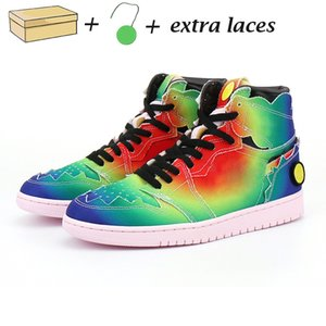 Wholesale m y for sale - Group buy New J Balvin s high og mens basketball shoes jumpman Colores Y Vibras Tie dye Multi Color Rainbow mens trainers sports sneakers