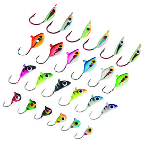 Wholesale crappie fishing for sale - Group buy Bassdash Ice Fishing Lure Kit Glowing Paint Jigs for Winter Ice Jigging Crappie Sunfish Perch Walleye Pike