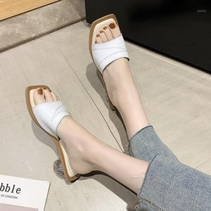 Wholesale leather shose for sale - Group buy Summer Women s Sandals Crystal Heel vintage soft leather Slipper Fashion ladies leisure sexy New classics Shose big size
