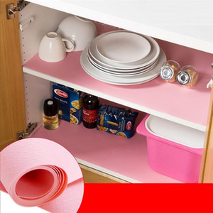 Wholesale shelf liners resale online - Lovely pet Kitchen x150CM Oil Resistant Kitchen Drawer Mat Shelf Liner Fridge Cabinet Pastel Pad drop shipping