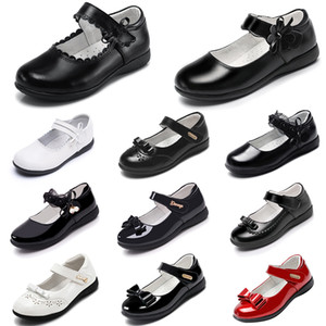 Wholesale walk for baby for sale - Group buy New Designer Platform Shoes for Baby Girls leather princess shoes with soft bottoms Triple Black Triple White outdoor summer Walking Jogging