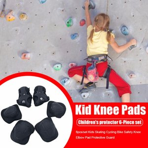 Wholesale knee scooters resale online - 6pcs Set Children Protective Equipment Knee Elbow Pad Protective Guard for Scooter Skateboard Bicycle Roller skating Y