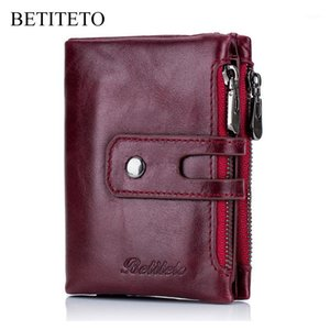 Wholesale walet women for sale - Group buy Betiteto Genuine Leather Women Wallet Female Coin Purse Vintage Cuzdan Kashelek Portomonee Walet Money Bag Portmann Ladies1