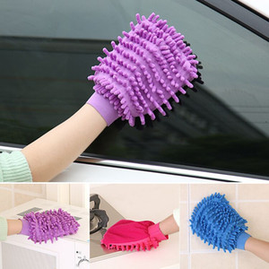 Wholesale car electrical resale online - Car Cleaning Gloves Microfiber Chenille Washing Gloves Coral Fleece Car Sponge Wash Cloth Car Care Cleaning WQ324