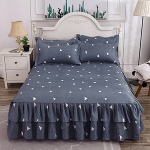 Wholesale kings size mattress for sale - Group buy Fashion Coffee Letter Printed Fitted Sheet Bed Sheet with Pillowcases Mattress Protector Cover Twin Queen King Size WXY087
