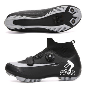 ingrosso scarpe da ciclismo alte-Uomini invernali MTB Cycling Shoes High Top Road Bike Sneakers Sapatilha Ciclismo Donne Professionale Autobloccante Scarpe da bicicletta Autobloccante Dimensioni