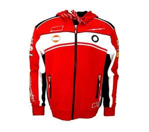 New Moto Racing Team Men's Black Sweatshirt Motorcycle Hoodie Polyester Open Front Zip Jacket Plus Fleece