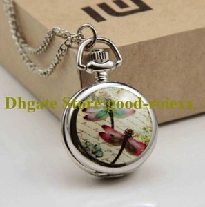 Wholesale pictures necklaces resale online - animal picture Enamel Women s Pocket Watch Necklace Accessories Sweater Chain Ladies Hanging Mens Mirror Ladys Watches A00092